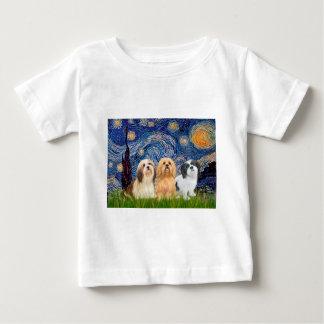 ラサApsos (3)の-星明かりの夜 ベビーTシャツ