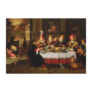 ラザロおよび富豪のテーブル キャンバスプリント