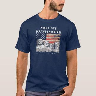 ラシュモア山の国民の記念公園の旗 Tシャツ