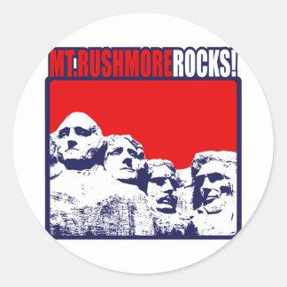 ラシュモア山の石! ラウンドシール