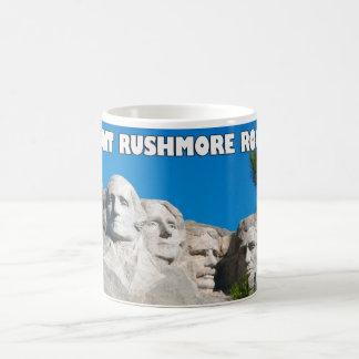 ラシュモア山の石! ラシュモア山、サウスダコタ コーヒーマグカップ