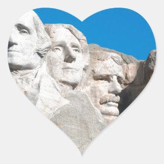 ラシュモア山の石! ラシュモア山、サウスダコタ ハートシール
