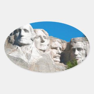ラシュモア山の石! ラシュモア山、サウスダコタ 楕円形シール