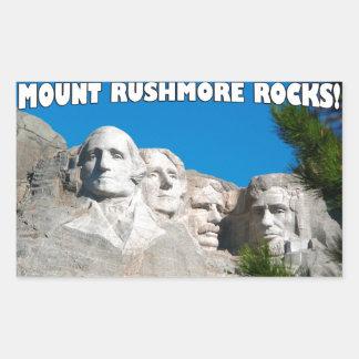 ラシュモア山の石! ラシュモア山、サウスダコタ 長方形シール