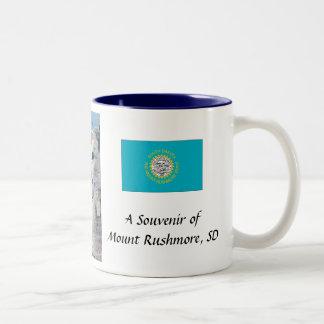 ラシュモア山の記念品のマグ ツートーンマグカップ