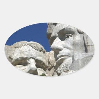 ラシュモア山の詳細 楕円形シール