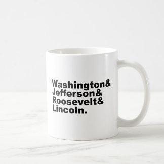 ラシュモア山の4つの先祖の顔 コーヒーマグカップ