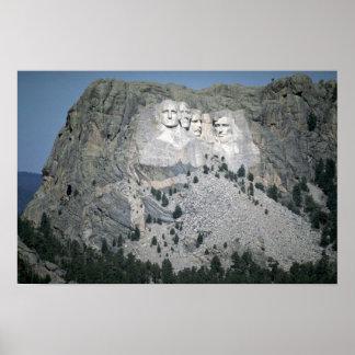 ラシュモア山、ブラックヒルズ、サウスダコタ、米国 ポスター