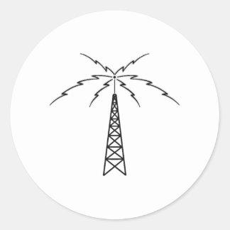 ラジオのアンテナ ラウンドシール