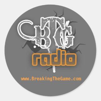 ラジオ、www.BreakingTheGame.com ラウンドシール