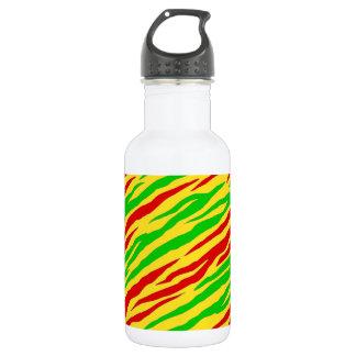 ラスタのシマウマは縞で飾ります ウォーターボトル