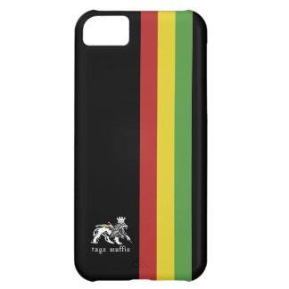 ラスタのストライプのIphone黒い5の箱 iPhone5Cケース