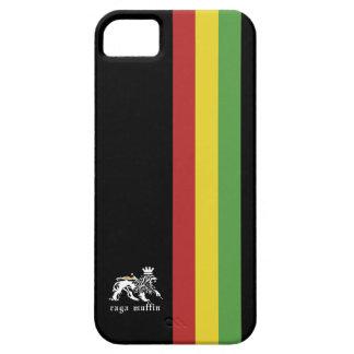 ラスタのストライプのIphone黒い5の箱 iPhone SE/5/5s ケース