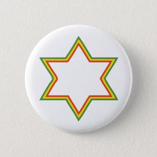 ラスタのダビデの星 缶バッジ