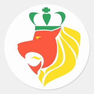 ラスタのレゲエによって戴冠させるライオン ラウンドシール