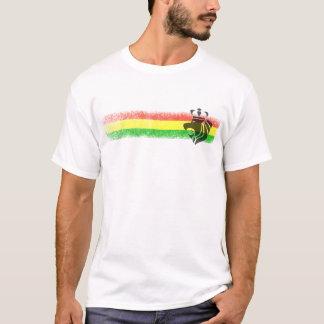 ラスタのレゲエによって戴冠させるライオン Tシャツ