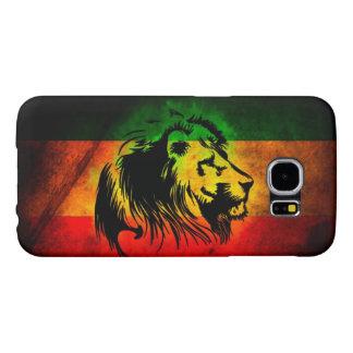ラスタのレゲエのライオンの旗 SAMSUNG GALAXY S6 ケース