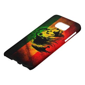 ラスタのレゲエのライオンの落書きの旗の芸術 SAMSUNG GALAXY S7 ケース