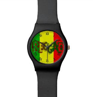 ラスタのレゲエのラスタの人音楽落書き 腕時計