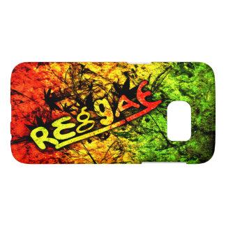 ラスタのレゲエの落書きの旗の芸術音楽 SAMSUNG GALAXY S7 ケース