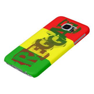 ラスタのレゲエの落書きの旗 SAMSUNG GALAXY S6 ケース