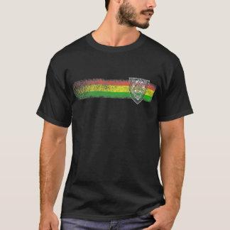ラスタのレゲエはデイヴィッドの盾によって縞で飾ります Tシャツ