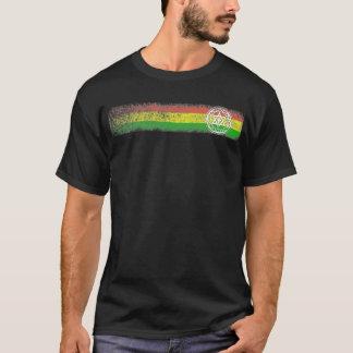 ラスタのレゲエは星および十字と縞で飾ります Tシャツ