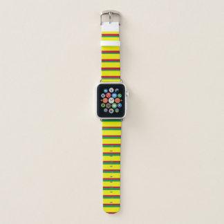 ラスタのヴィンテージプレッピーなレトロパターンAPPLEの腕時計 APPLE WATCHバンド