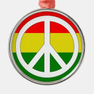ラスタの平和オーナメント メタルオーナメント