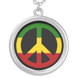 ラスタの平和ネックレス シルバープレートネックレス