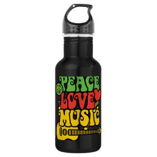ラスタの平和愛および音楽 ウォーターボトル
