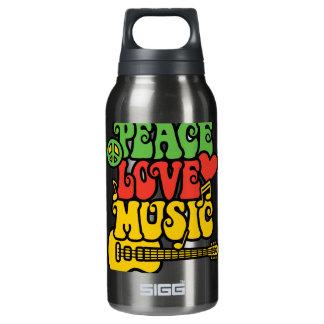 ラスタの平和愛および音楽 断熱ウォーターボトル