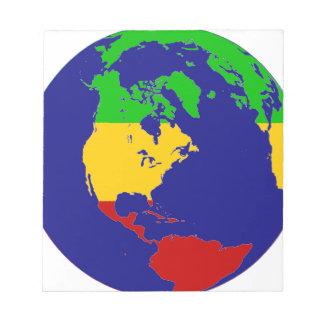 ラスタの惑星の地球 ノートパッド