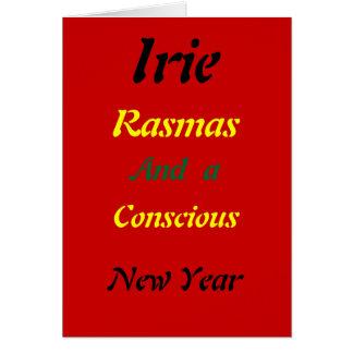 ラスタの意識したクリスマスカード カード