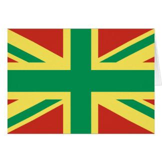 ラスタの旗のイギリスの挨拶状 カード