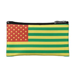 ラスタの旗米国の化粧品のバッグ コスメティックバッグ