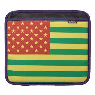 ラスタの旗米国のiPadの袖 iPadスリーブ