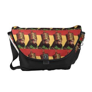 ラスタのHaile Selassieのメッセンジャーバッグ メッセンジャーバッグ