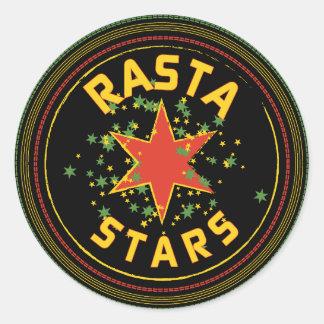 ラスタはステッカーのあたりで主演します ラウンドシール