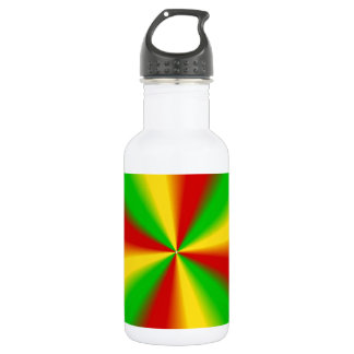 ラスタは緑の黄色および赤を放射します ウォーターボトル