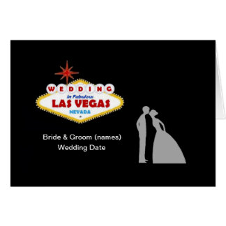 ラスベガスすばらしいカードの結婚 グリーティングカード