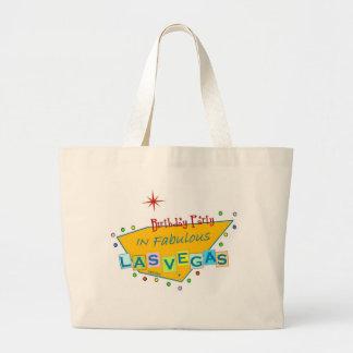 ラスベガスすばらしいTのバッグのレトロの誕生会 ラージトートバッグ