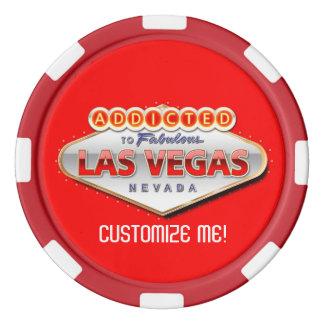 ラスベガスに熱中される、ネバダのおもしろいな印 ポーカーチップセット