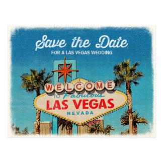 ラスベガスのすばらしい結婚式のための日付を救って下さい ポストカード