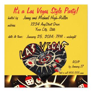 ラスベガスのカジノのスタイルのパーティー カード