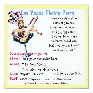 ラスベガスのカジノのテーマのパーティー カード