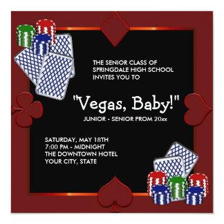 ラスベガスのカジノのプロムの招待状 カード