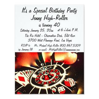 ラスベガスのカジノの誕生祝い カード