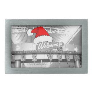 ラスベガスのクリスマスへの歓迎 長方形ベルトバックル
