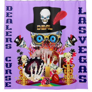 ラスベガスのシャワー・カーテンのコレクションのイースター紫色 シャワーカーテン